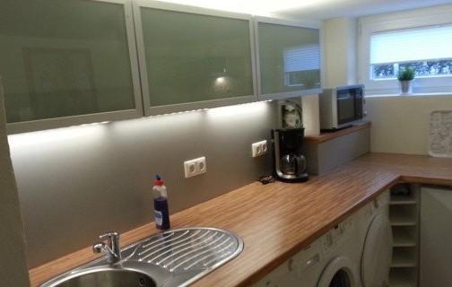 Küche Einliegerwohnung Ferienhaus Angela Kellenhusen