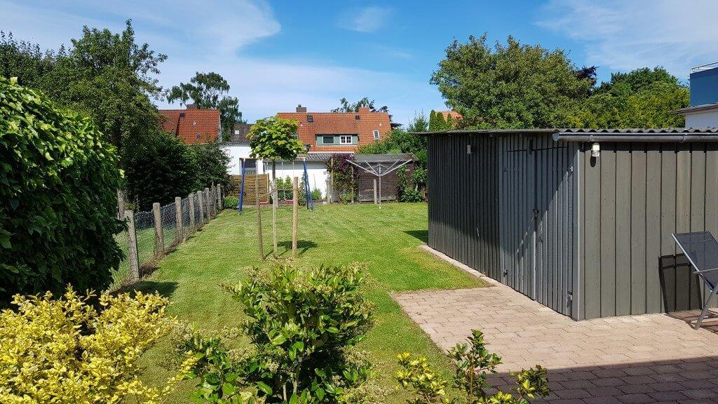 Garten am Ferienhaus Angela in Kellenhusen