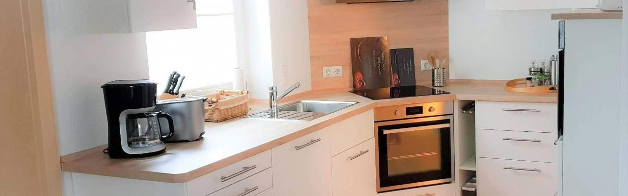 Küche im Ferienhaus Angela Kellenhusen