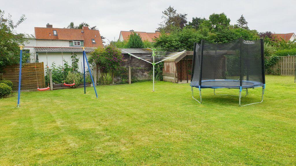Grünfläche am Ferienhaus Angela